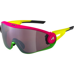 Alpina 5W1NG Q+CM Glasses, pink/green/yellow